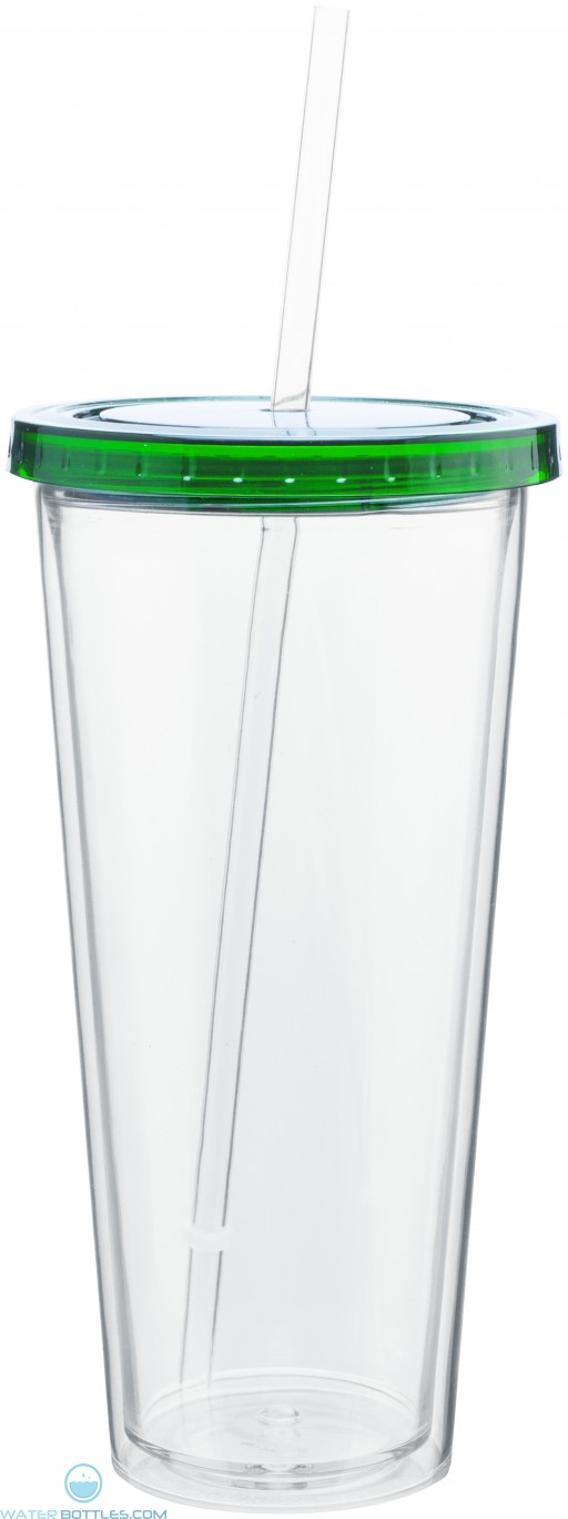 20 oz spirit tumbler with color lid-green