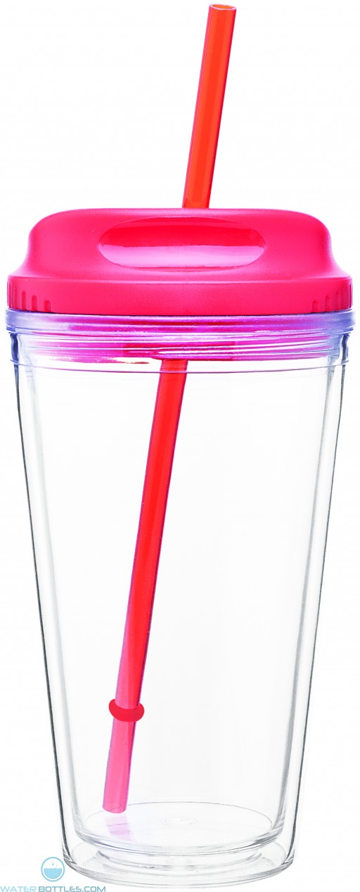 Spirit Tumblers with H/C Lid | 16 oz - Red