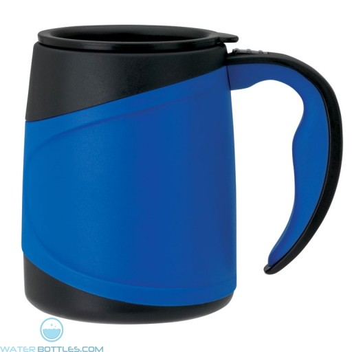 Microwavable Double Wall Mugs | 15 oz - Blue
