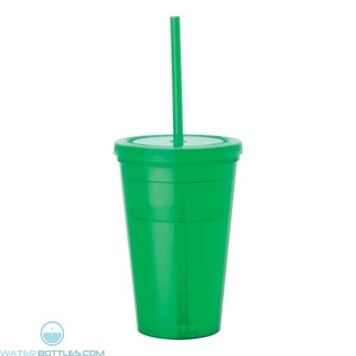 Tumblers & Straw   16 oz - Green