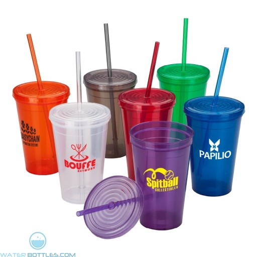 Wholesale Tumblers - Branded Tumbler With Straw | 16 oz