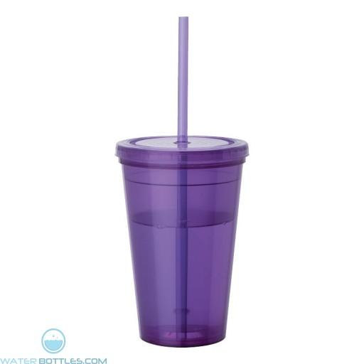 Tumblers & Straw | 16 oz - Purple