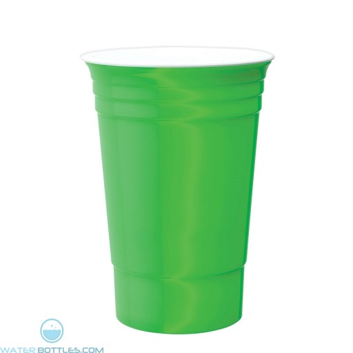 Double Wall Party Cup | 16 oz - Neon Green