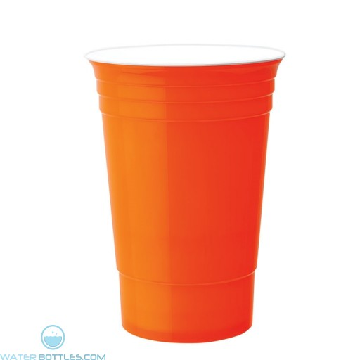 Double Wall Party Cup | 16 oz - Neon Orange