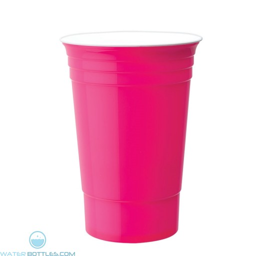 Double Wall Party Cup | 16 oz - Neon Pink