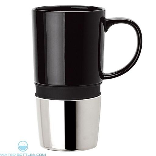 Ceramic Mugs | 16 oz - Ceramic Body with Black Silicone Band