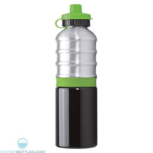 Aluminum Bottles | 25 oz - Aluminum Bottles with Lime Green Silicone Band
