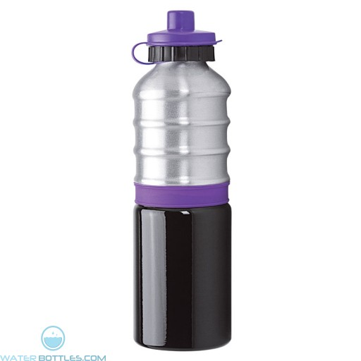 Aluminum Bottles | 25 oz - Aluminum Bottles with Purple Silicone Band