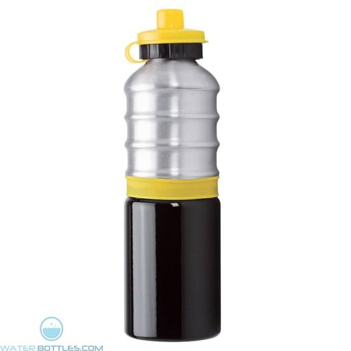 Aluminum Bottles | 25 oz - Aluminum Bottles with Yellow Silicone Band