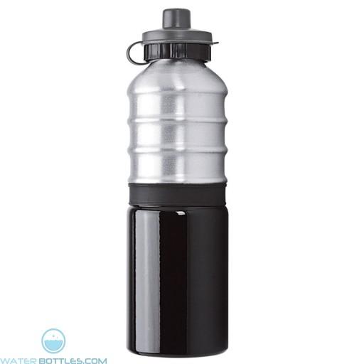 Aluminum Bottles | 25 oz - Aluminum Bottles with Grey Silicone Band