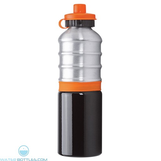 Aluminum Bottles | 25 oz - Aluminum Bottles with Orange Silicone Band