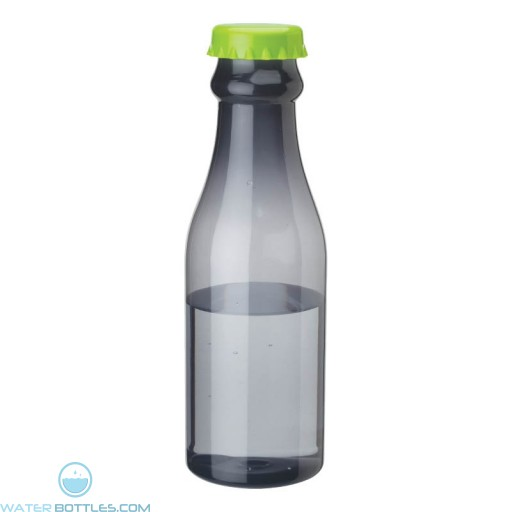 PP Water Bottles | 23 oz - Smoky Bottles with Green Bottles Cap