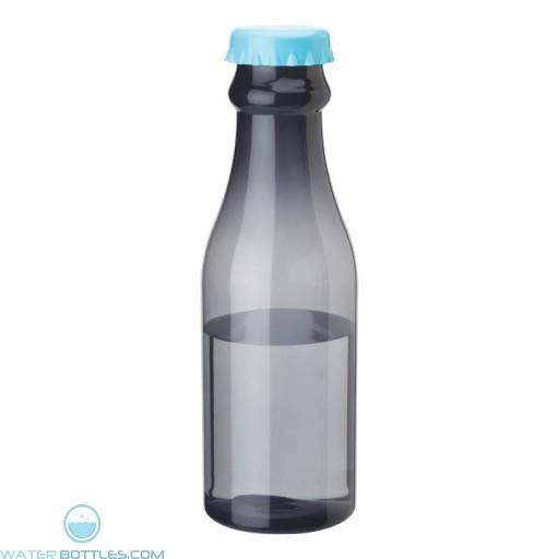 PP Water Bottles | 23 oz - Smoky Bottles with Light Blue Bottles Cap