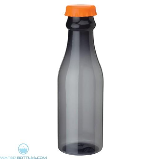 PP Water Bottles | 23 oz - Smoky Bottles with Orange Bottles Cap