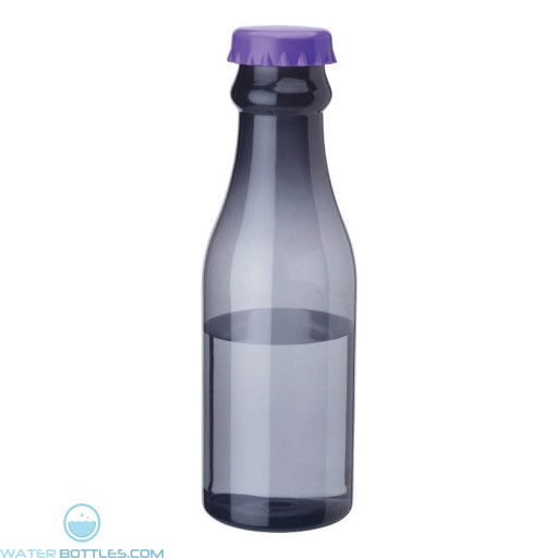 PP Water Bottles   23 oz - Smoky Bottles with Purple Bottles Cap