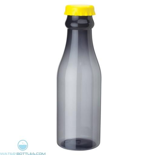 PP Water Bottles | 23 oz - Smoky Bottles with Yellow Bottles Cap