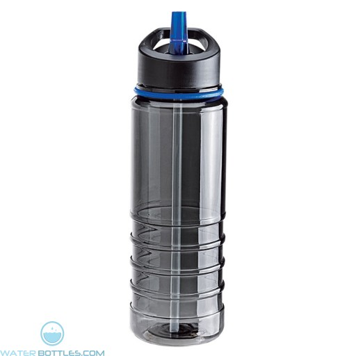 Tritan Water Bottles| 25 oz - Charcoal Bottles with Blue Drinking Spout