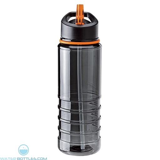 Tritan Water Bottles| 25 oz - Charcoal Bottles with Orange Drinking Spout