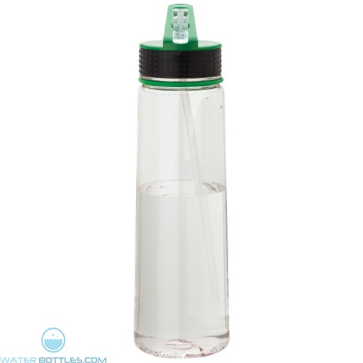 Tritan Water Bottles | 30 oz - Clear Bottles with Green Spout
