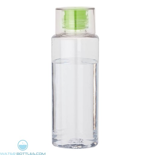 Tritan Water Bottles | 38 oz - Clear with Green Spout