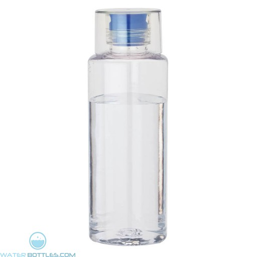 Tritan Water Bottles | 38 oz - Clear with Blue Spout