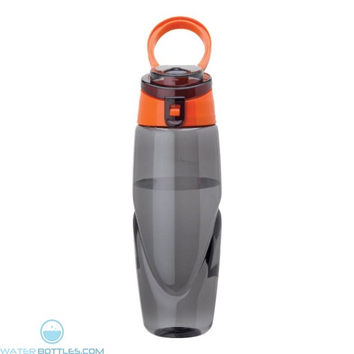 Tritan Water Bottles | 32 oz - Smoky Bottles with Orange Spout