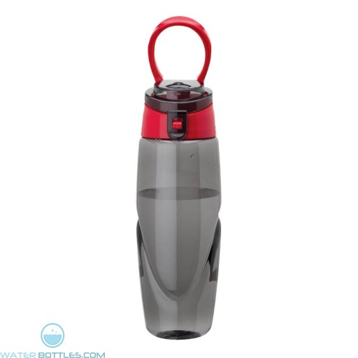Tritan Water Bottles | 32 oz - Smoky Bottles with Red Spout