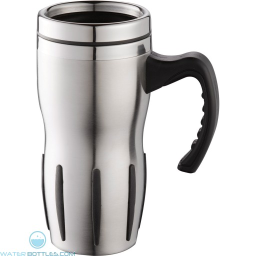 Tech Travel Mugs | 14 oz - Stainless Steel with Black Grip