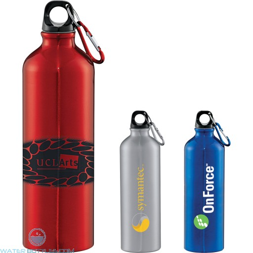 Personalized Promo Water Bottles - Santa Fe Aluminum Bottle | 26 oz