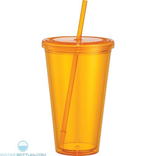 Sedici Mega Acrylic Tumblers   24 oz - Orange