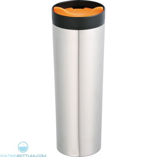 Color Twist Tumblers | 15 oz - Stainless Steel With Orange Lid