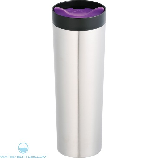 Color Twist Tumblers | 15 oz - Stainless Steel With Purple Lid