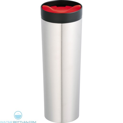 Color Twist Tumblers | 15 oz - Stainless Steel With Red Lid