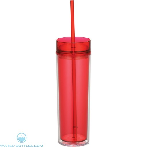 Hot & Cold Skinny Tumblers | 15 oz - Red