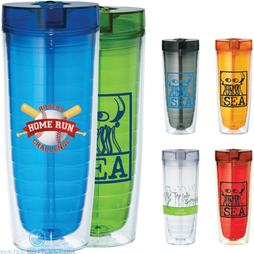 Promotional Tumblers - Hot and Cold Flip n Sip Vortex Tumbler   20 oz