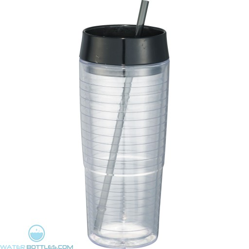 Hot and Cold Swirl Double-Wall Tumblers | 20 oz - Black