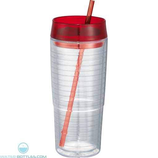 Hot and Cold Swirl Double-Wall Tumblers   20 oz - Red
