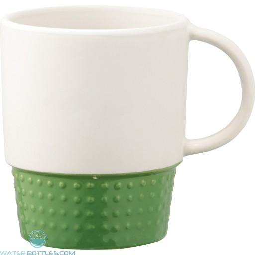 Hobnail Ceramic Mugs   12 oz - Green