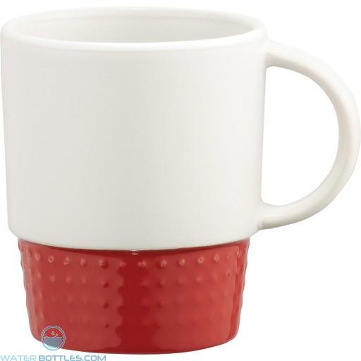 Hobnail Ceramic Mugs | 12 oz - Red