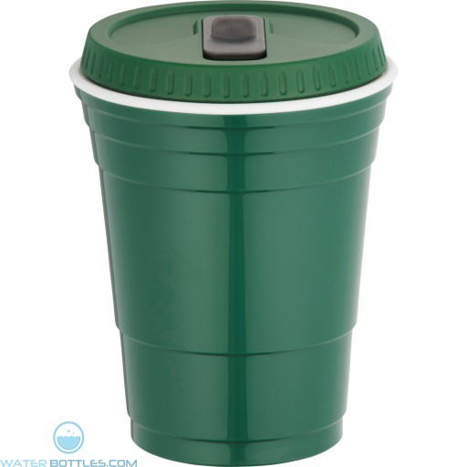 Game Day Cup With Lid | 16 oz - Green