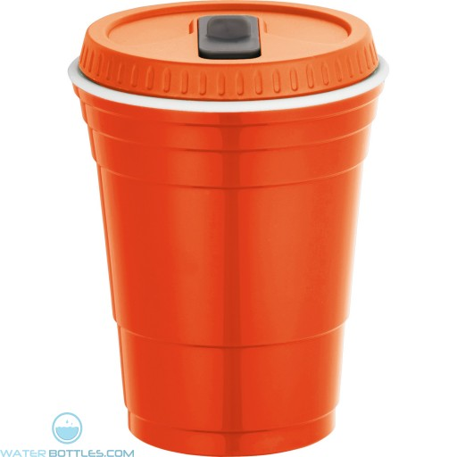Game Day Cup With Lid | 16 oz - Orange