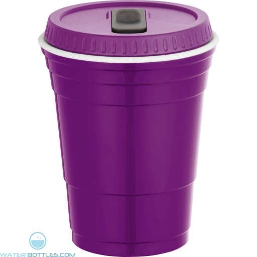 Game Day Cup With Lid | 16 oz - Purple