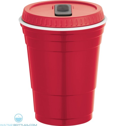 Game Day Cup With Lid | 16 oz - Red
