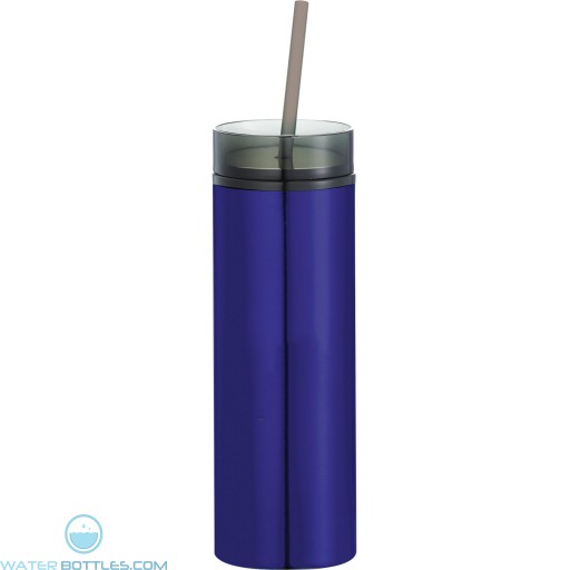 Hot and Cold Skinny Stainless Tumblers | 15 oz - Blue