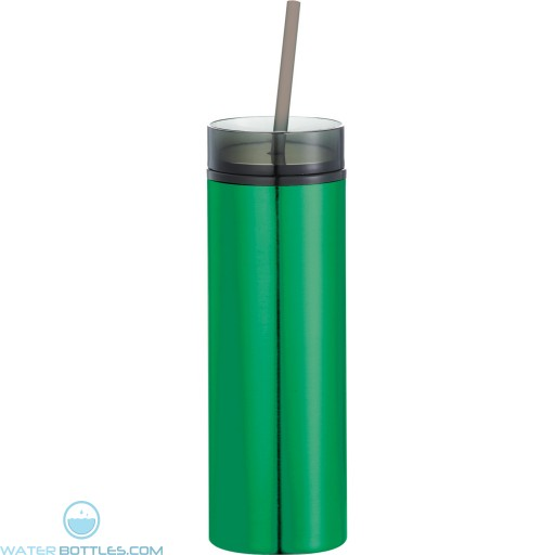 Hot and Cold Skinny Stainless Tumblers | 15 oz - Green