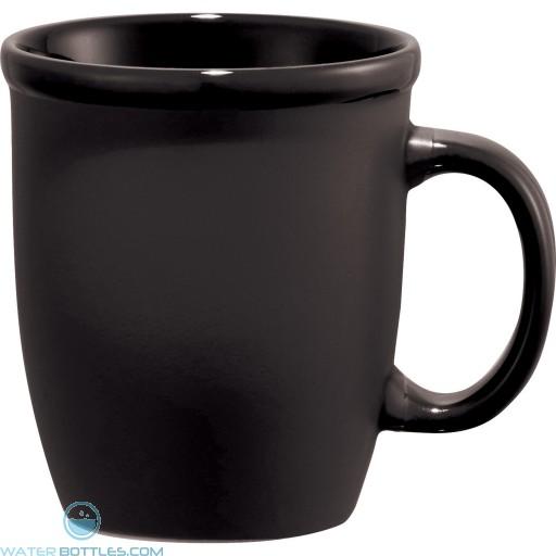 Cafe Au Lait Ceramic Mugs | 12 oz - Black