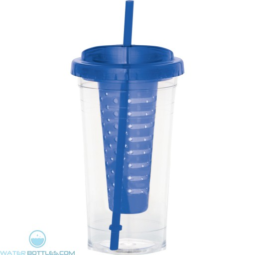 Personalized Fruit Infuser Tumblers | 24 oz - Blue