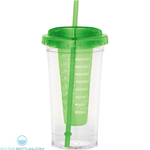 Personalized Fruit Infuser Tumblers | 24 oz - Green