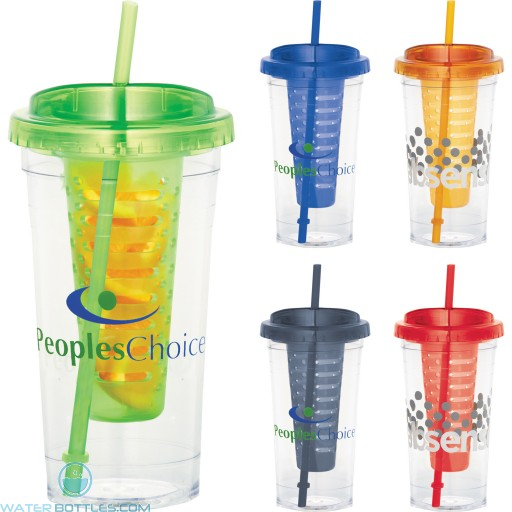 Promotional Tumblers - Personalized Fruit Infuser Tumbler   24 oz