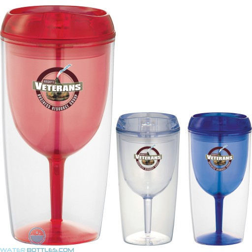 Promotional Cups - Game Day Wine Glass Cup | 10 oz